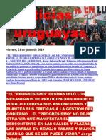 Noticias Uruguayas Viernes 21 de Junio Del 2013