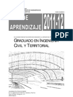 Guia de Aprendizaje 2011 Graduado Ingenieria Civil y Terrirorial UPM