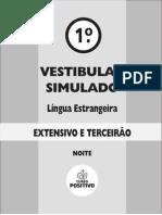 1o Vest Simulado - Extensivo - Curso Positivo - Lingua Estrangeira - n