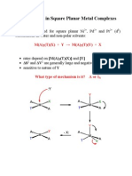 Substitution in Square Planar Complexes