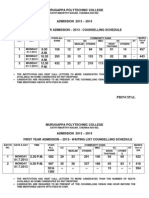 MPC-Admission 2013-Full Time-Counselling Rank Details