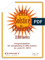 Concept2 2013 Summer Solstice Rowing Certificate