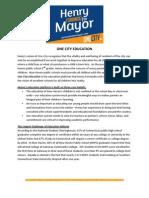 One City Education Platform