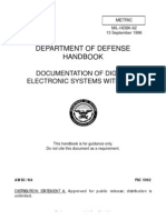 Department of Defense Handbook Documentation of Digital Electronic Systems With Vhdl