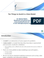 10 Things to Avoid in Data Model