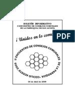 BOLETIN II ENCUENTRO CONSEJOS COMUNALES