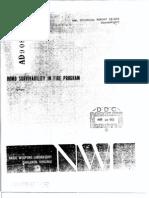 TR2869- Bomb Survability in Fire Program USA1972