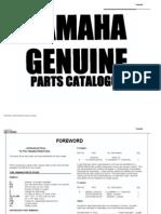 Yamaha YSR50 Parts Manual