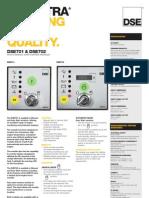Dse 701 & Dse 702 Auto &Manual Start Control Modules
