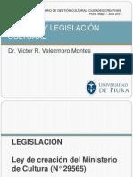 POLÍTICA Y LEGISLACIÓN CULTURAL