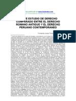 Breve Estudio Derecho Comparado Romano Antiguo Peruano Contemporaneo 150208