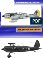 WW II German Aircraft Prints (CLW Graphics)