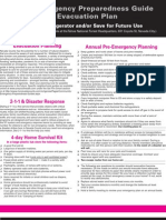 2013 Emergency Preparedness Guide & Evacuation Plan