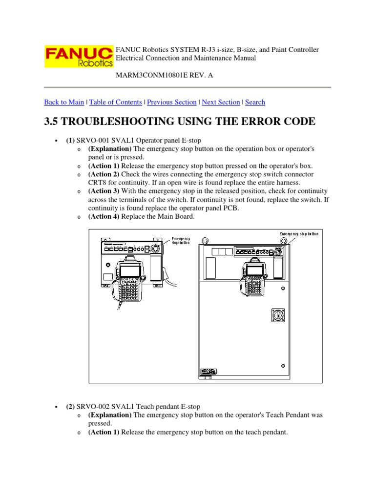 83421405 FANUC Robotics SYSTEM R J3 Troubleshooting and Maintenance Manual  | Relay | Servomechanism