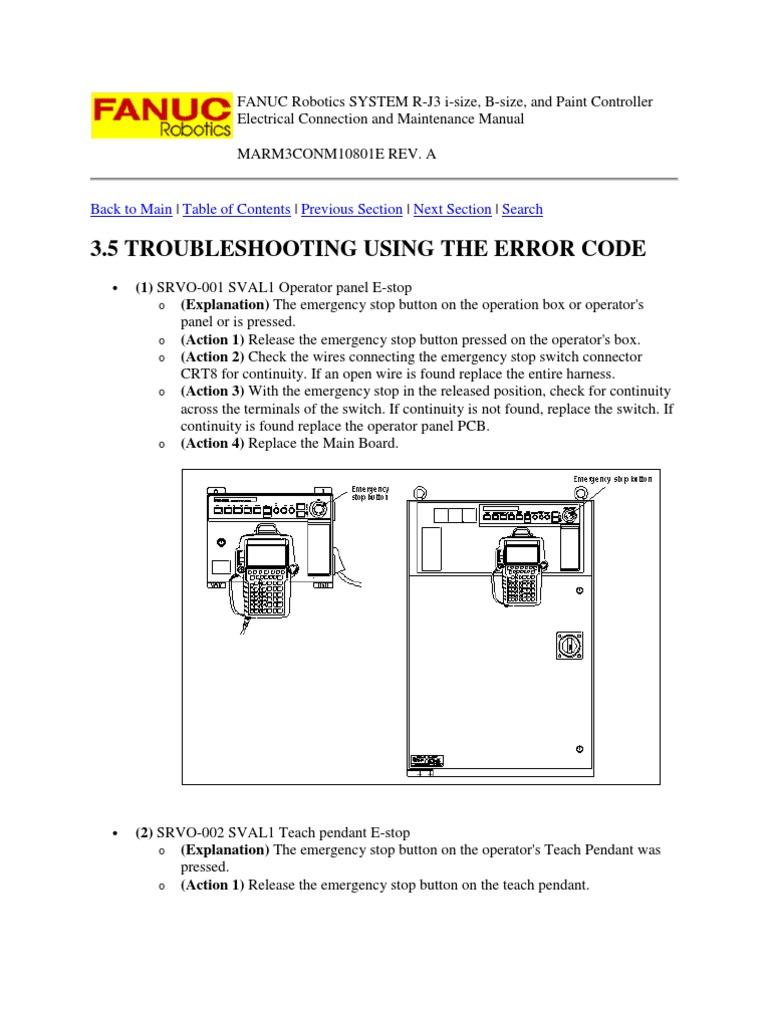83421405 FANUC Robotics SYSTEM R J3 Troubleshooting and Maintenance Manual  | Relay | Servomechanism