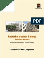 Kmc - II Mbbs Syllabus