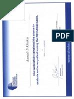 Aunali Khaku, MD, NIH Stroke scale (NIHSS) certification
