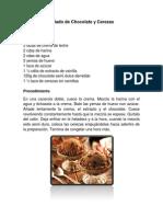 Helado de Chocolate y Cerezas