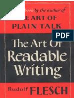 Flesch the Art of Readable Writing