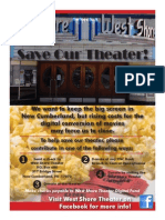 West Shore Theater fundraising poster designed by Mickey Minnick and a band of moviegoers