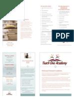 teach one academy program brochure - special edition
