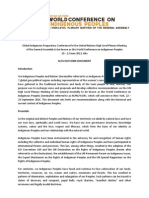 Global Indigenous Peoples Outcome Document, Alta, Norway, 12 June 2013