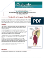 tendonitis of the long head of the biceps-orthoinfo - aaos