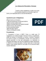 Magdalenas Rellenas de Chocolate y Cerezas