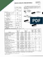 Motorola Monolithic IC Data Sheet