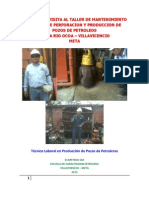 Informe Visita Taller Mantenimiento . Ocoa
