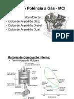 Ciclos de Potencia a Gás - MCI