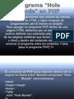 (3) Programa _Hola Mundo_ en PHP