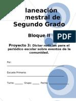 2do Grado - Bloque II - Proyecto 3