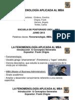 LA FENOMENOLOGÍA APLICADA AL MBA