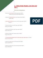 1.Sales Order at Header and Line Item