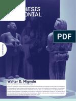 Aisthesis Decolonial-Walter Mignolo