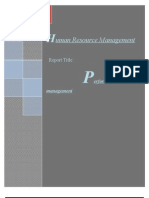 Report on Performance Management