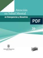 Guía de atención en salud mental en emergencias y desastres