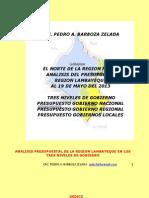Ejecucion Presupuestal Region Lambayeque Al 19.05.13