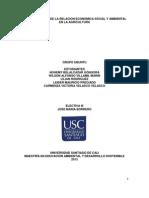 Analisis Critico de La Relacion Economica, Social y Ambiental de La Agricultura