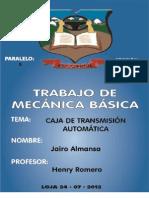CAJA DE transmisión automática