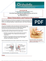 elbow dislocations and fracture-dislocations -orthoinfo - aaos