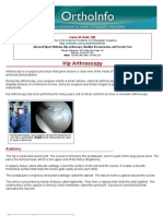 hip arthroscopy-orthoinfo - aaos