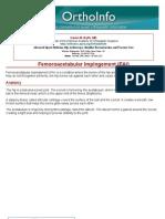 femoroacetabular impingement fai-orthoinfo - aaos