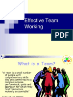 Presentation on Effective Team Working