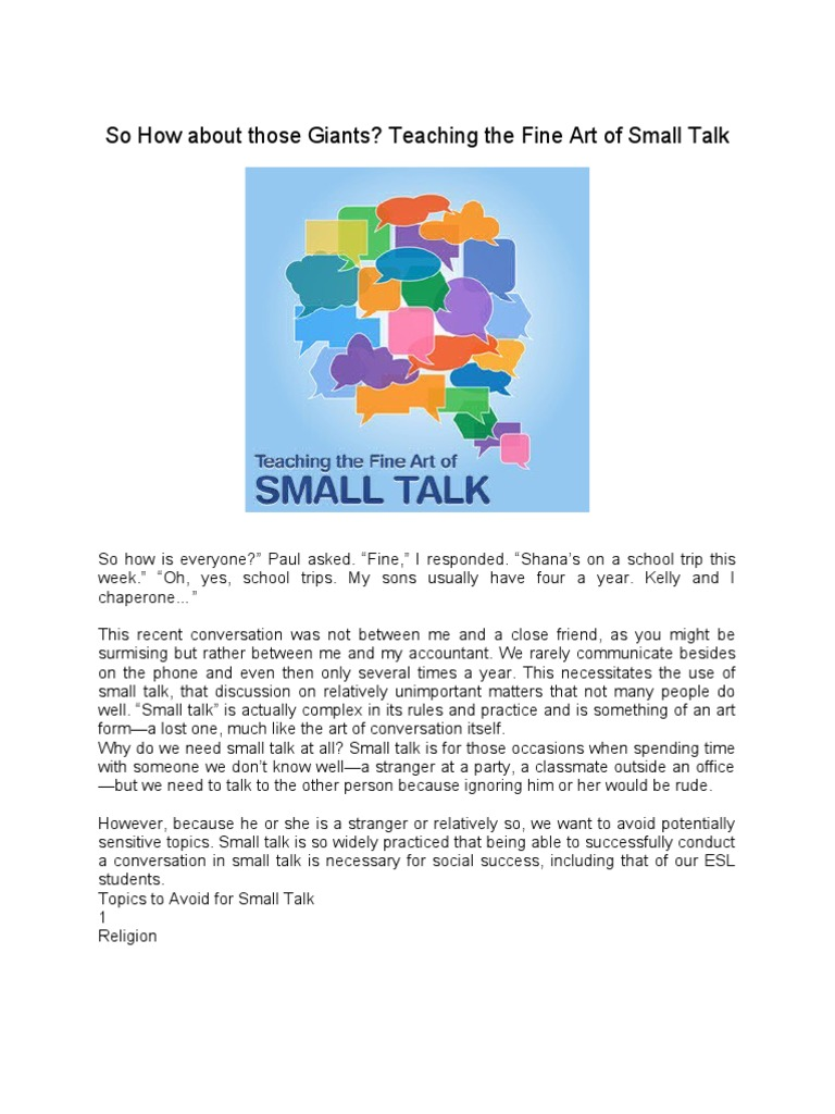 the art of small talk