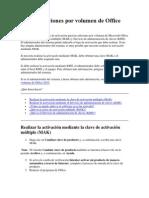 Activar Ediciones Por Volumen de Office 2010