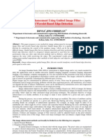 Image Enhancement Using Guided Image Filterand Wavelet Based Edge Detection