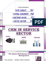 Crm in Service Sector (1)