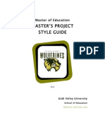 M.ed. Style Guide 2011